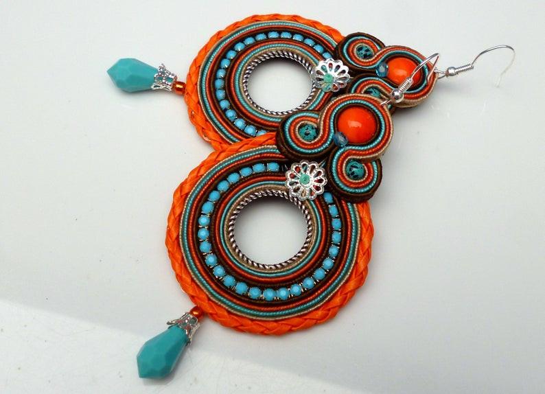 Soutache bohemian earrings