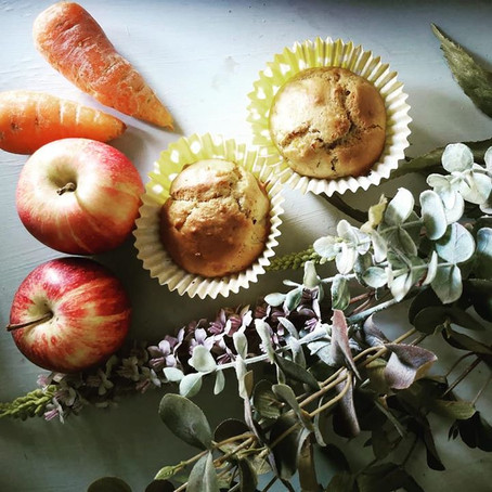 Spiced apple and carrot muffins