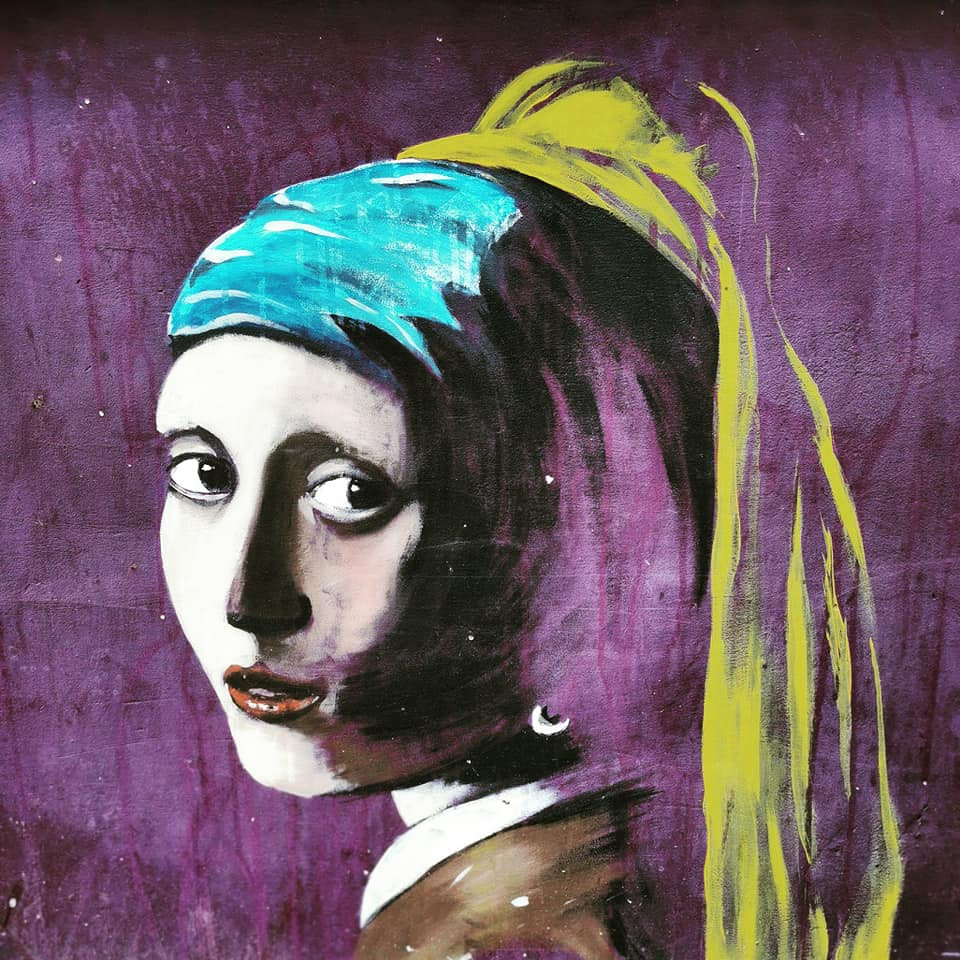Girl with a Pearl Earring mural Battersea