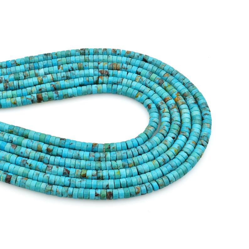 Turquoise heishi beads