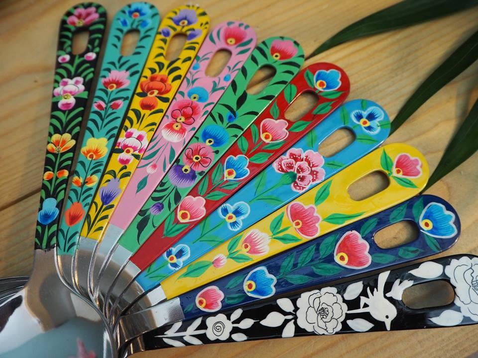 Hand-painted enamelware