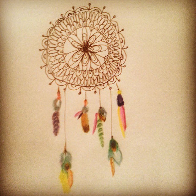 Instagram - #drawing #dreamcatcher