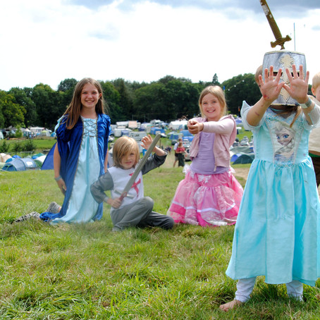 Camping at England's Medieval Festival