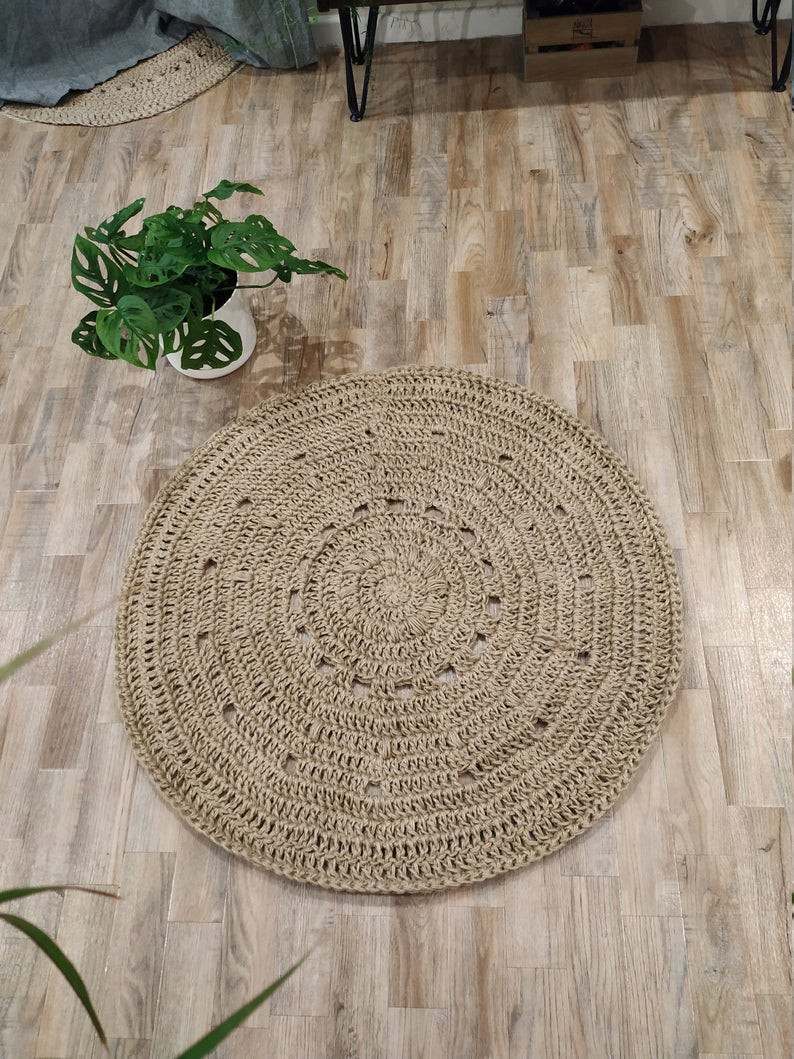 boho round jute rug