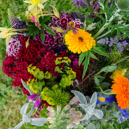 Pick your own wedding flowers at Blooming Green
