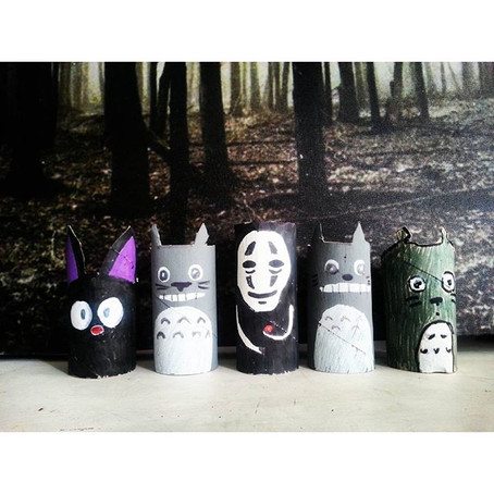 Totoro toilet roll craft