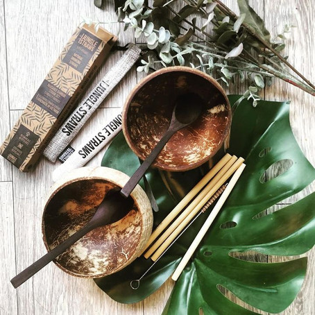 Eco-friendly bowls, spoons and straws