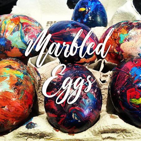 Marbling Eggs with Nail Varnish