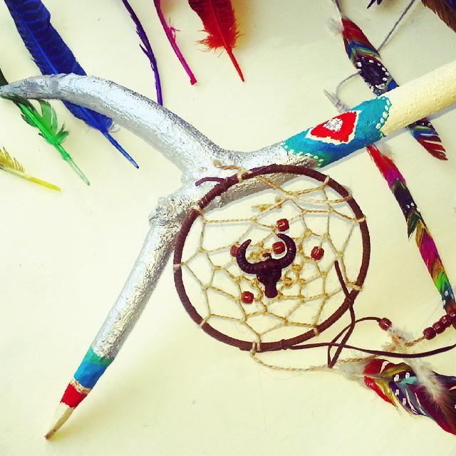 Instagram - #painting #sticks #dreamcatcher