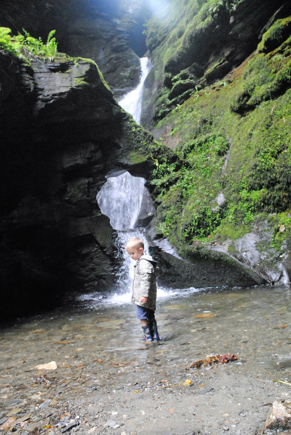 St Nectan's Glen waterfall Cornwall