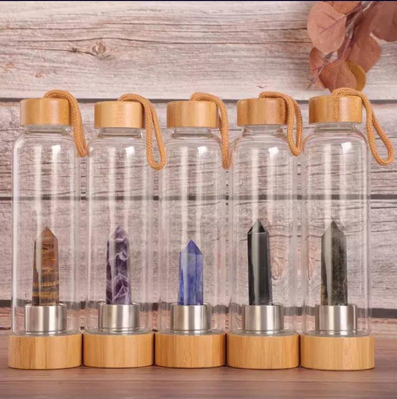 Crystal bamboo water bottles