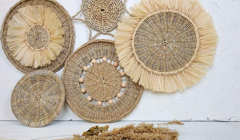 boho wall baskets