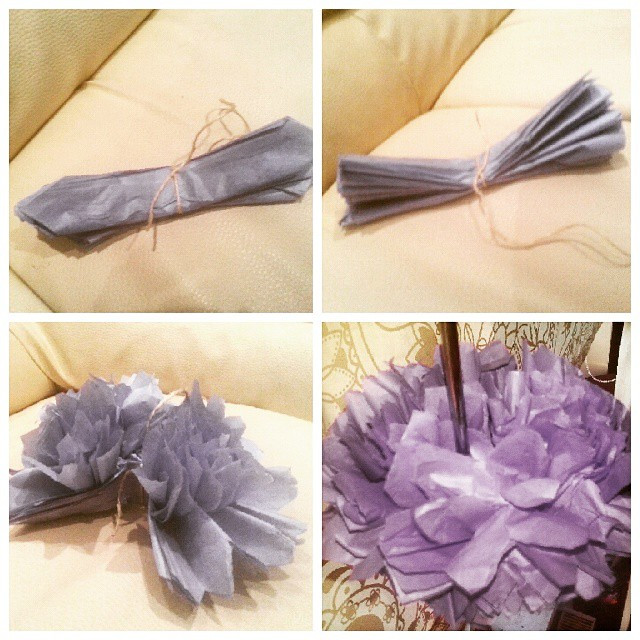 Instagram - Tissue paper pompoms - kids can make these with a little help #craft