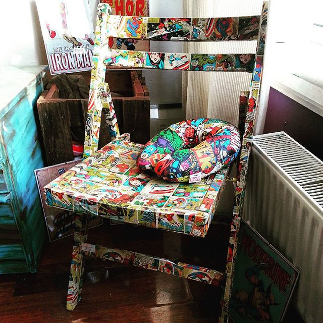 MArvel Avengers decoupage chair