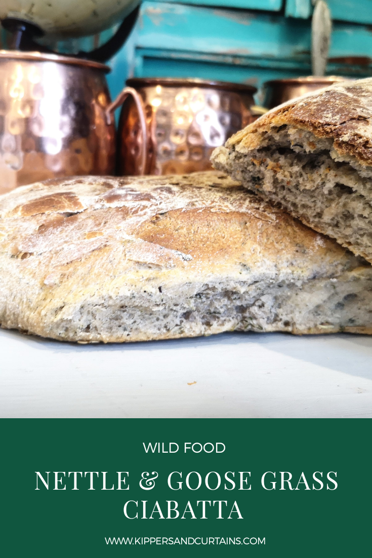 Nettle and goose grass ciabatta