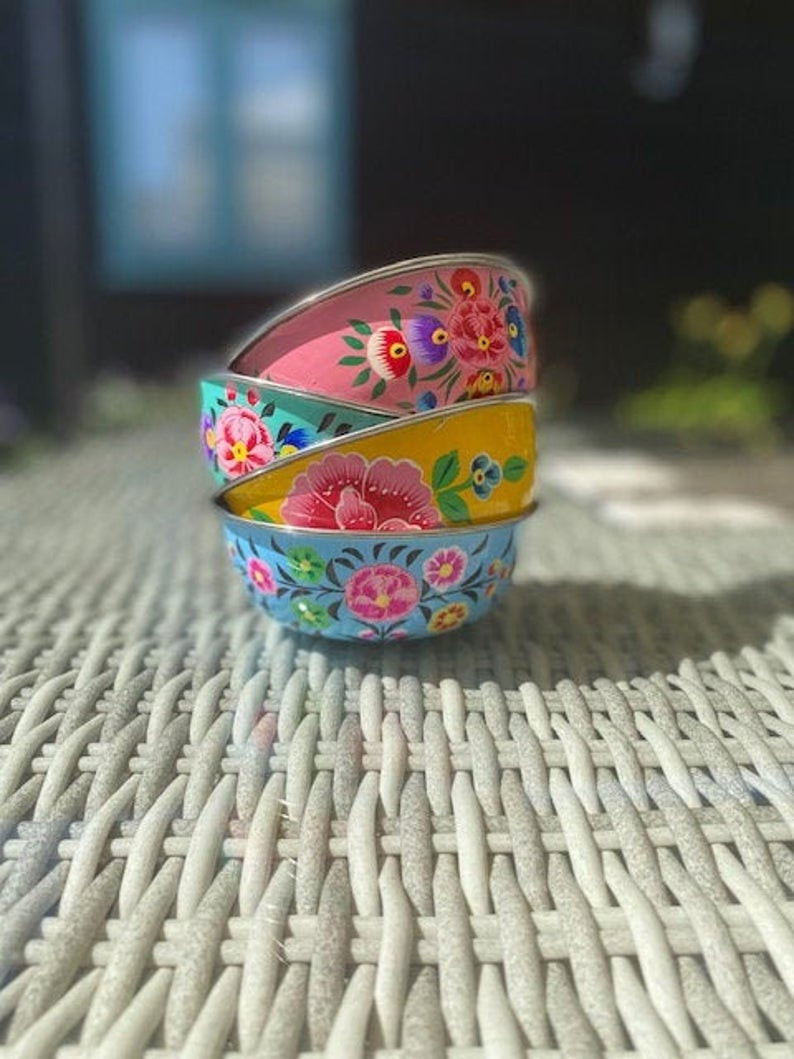 boho enamel bowls