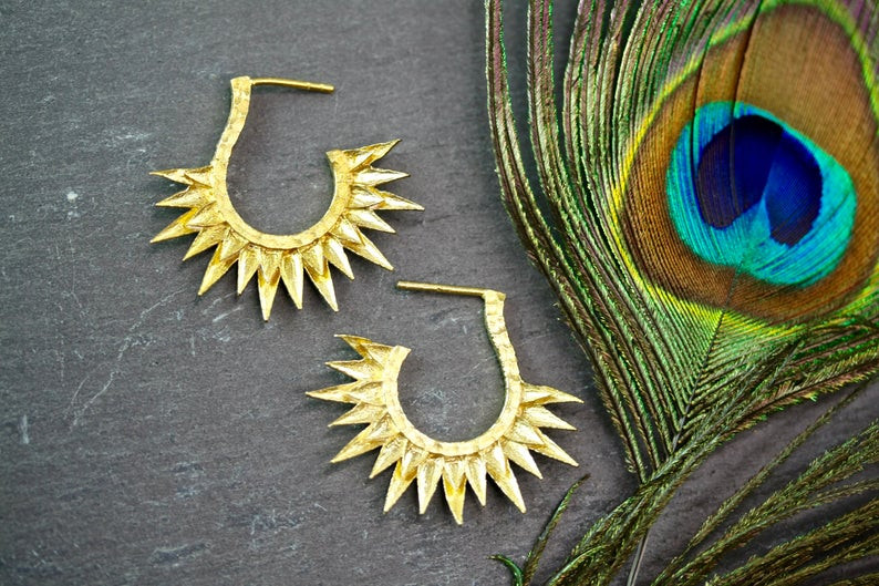 Celestial sun earrings