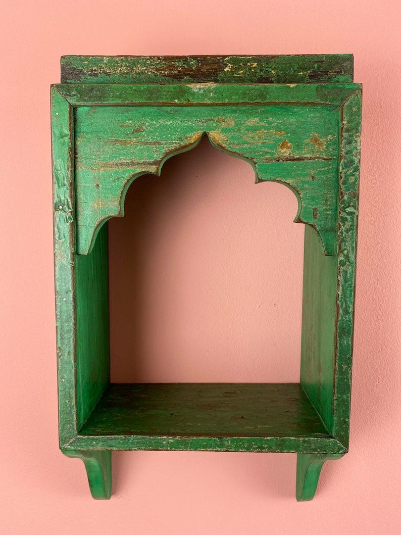 vintage Indian boho display shelf