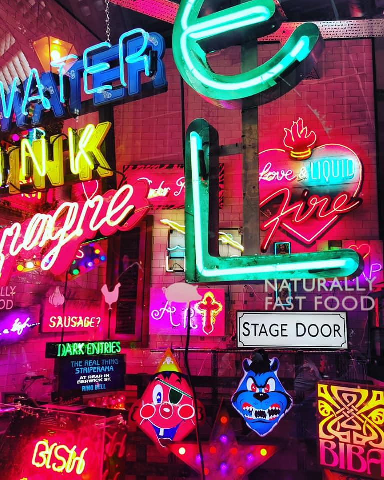 Leadenhall Market God's Own Junkyard neon