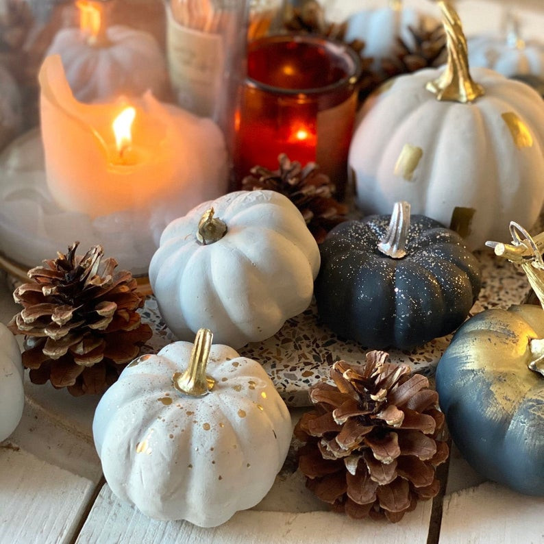 Faux hand painted pumpkins
