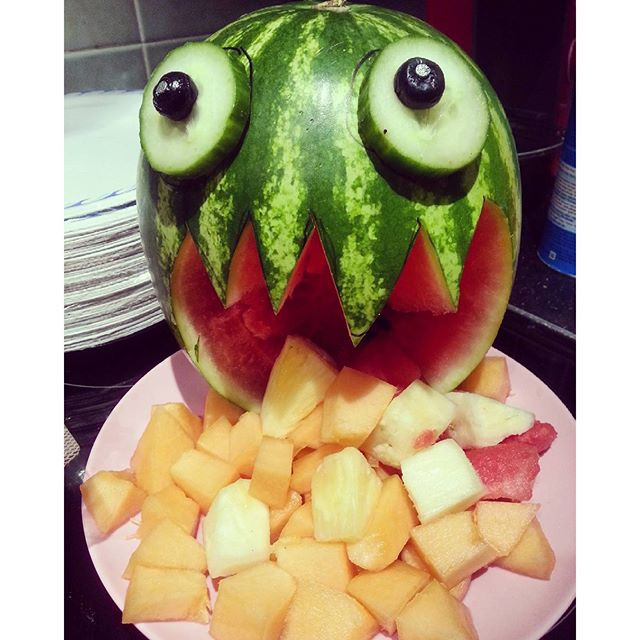 Halloween puking watermelon