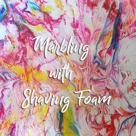 Marbling with shaving foam