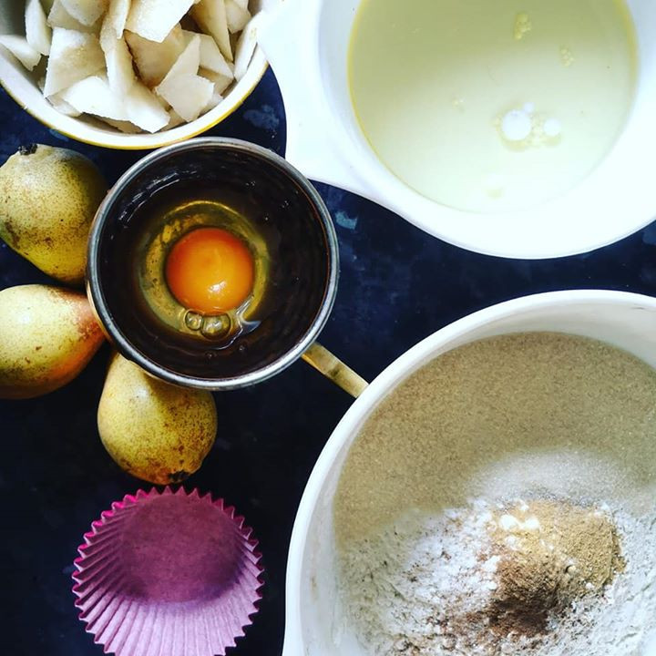 Spiced Pear Muffins recipe
