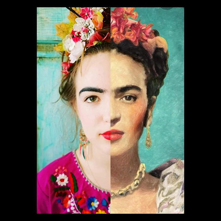 Recreate art Friday Kahlo #gettymuseumchallenge