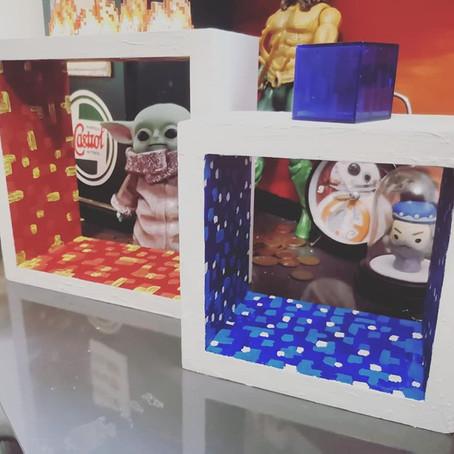 Easy DIY Minecraft shelves