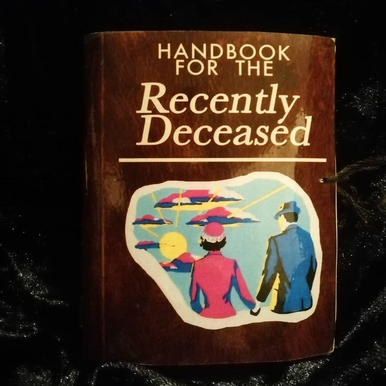 Beetlejuice Halloween prop, handbook for the recently deceased