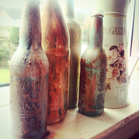 Wedding Project: Painted Bottles