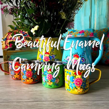 Beautiful Enamel Camping Mugs
