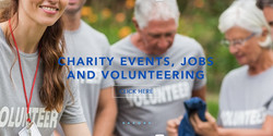 Charity events, jobs and volunteers