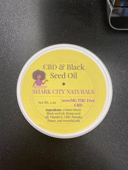 1,000mg CBD and Black Seed Oil Cream
