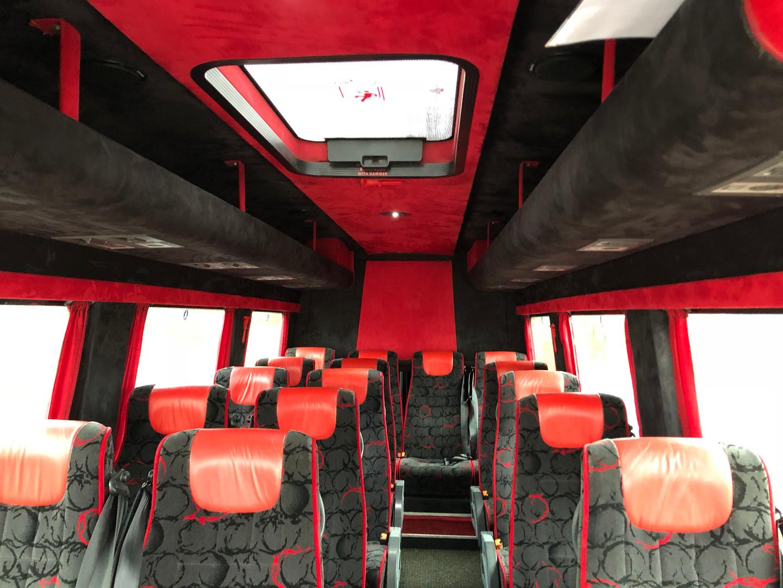 16 seater coach interior