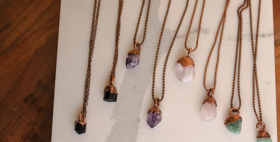 Gem Drop Copper Necklace