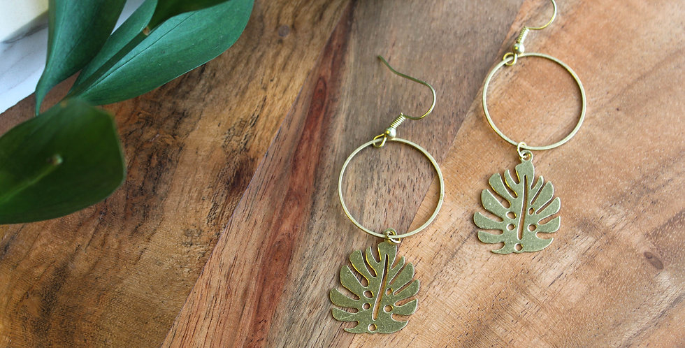 No. 190 Plant Mama Brass Earrings