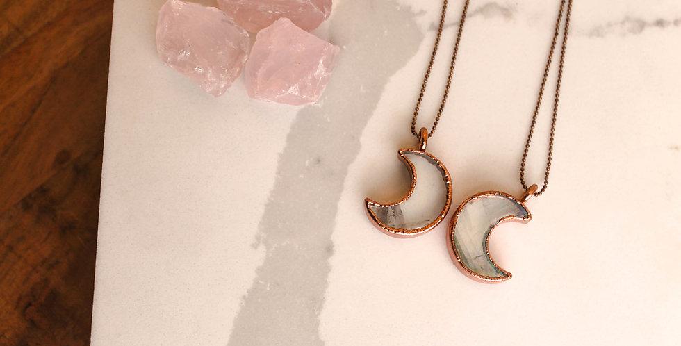 Angel Aura Crystal Moon Necklace