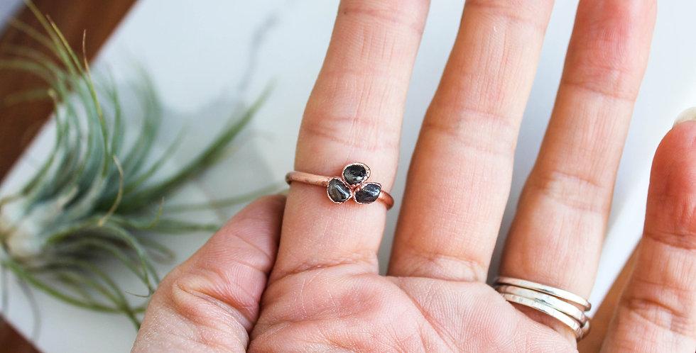 Tourmaline Mosaic Ring Size 8.5