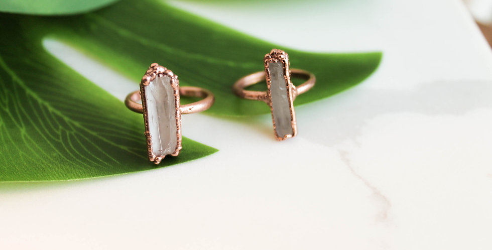 Clear Crystal Statement Ring