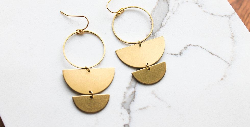 No. 180 Brass Earrings
