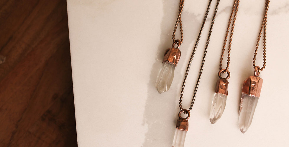 Single Crystal Point Necklace
