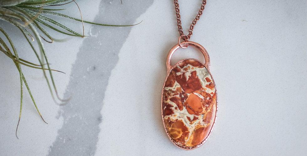 Red Jasper and Copper Pendant