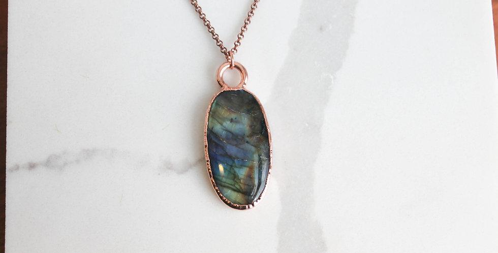 Labradorite and Copper Pendant