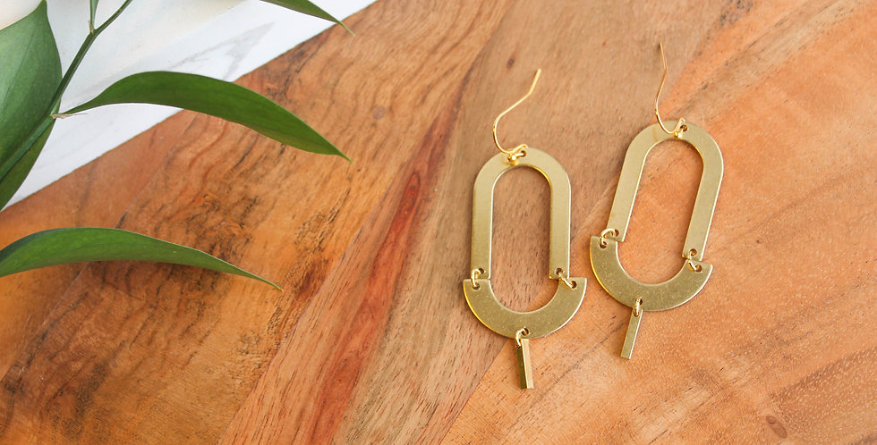 No. 177 Brass Arch Earrings