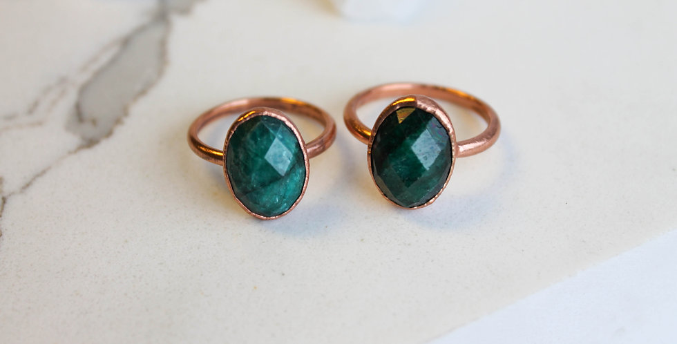 Emerald and Copper Ring