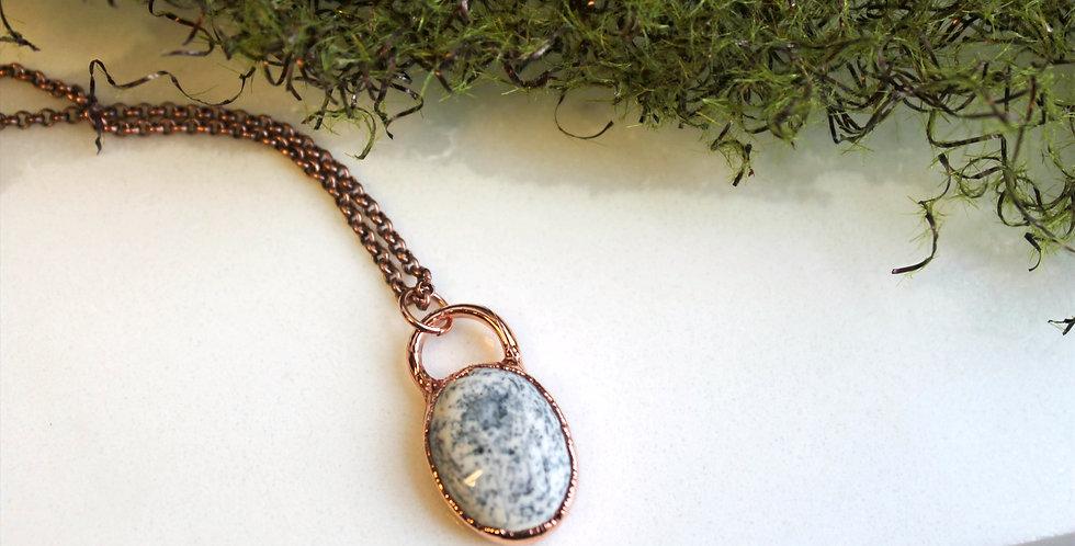 Dendritic Opal Agate Copper Necklace
