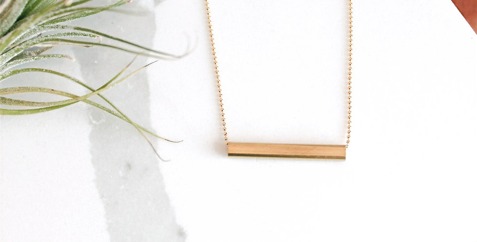 Simple Brass Tube Necklace