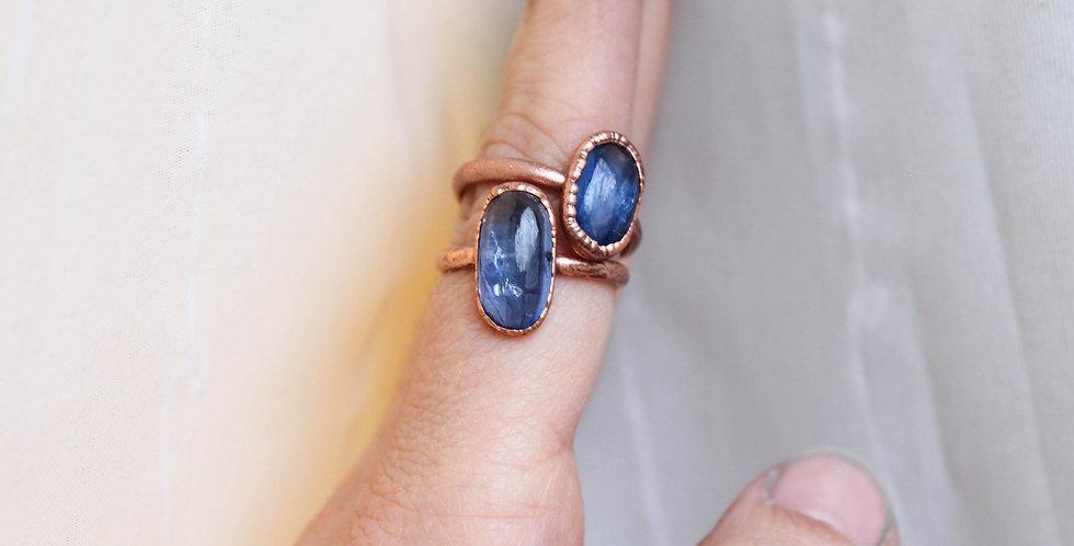 Blue Kyanite Copper Ring