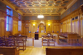 A picture of the interior of a court house.